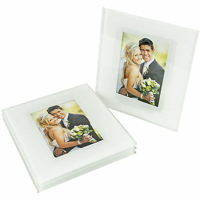 Glass Photo Coasters Photo Gifts Personalized Frames Set of Four With Rack - Personalized Photo Coasters