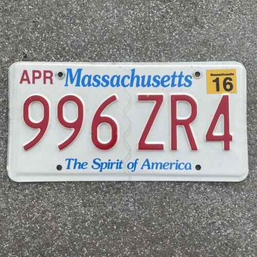 Original US Auto Kennzeichen Nummernschild USA Massachusetts Spirit of America