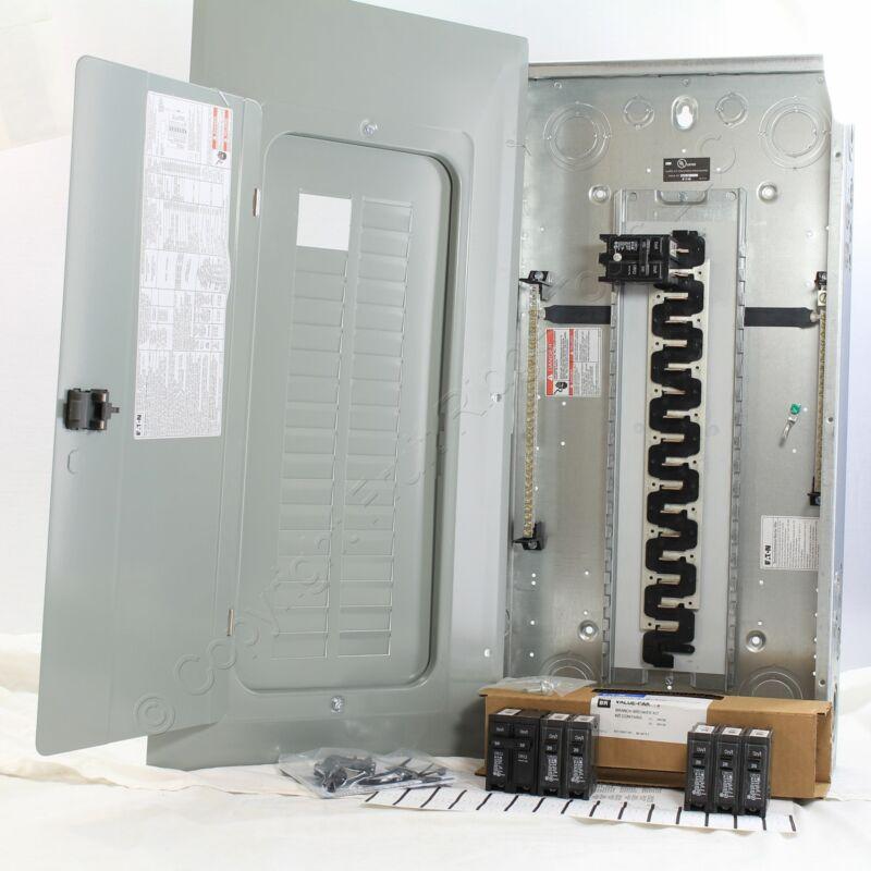 Eaton BR3030BC100V Type BR 30-Space Breaker Panel COPPER Bus w/6 Breakers 100A