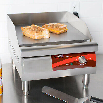 Avantco 16 Electric Commercial Countertop Steel Flat Top Griddle Grill - 120v