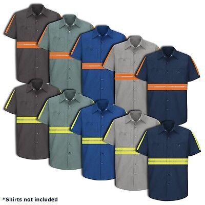 Hi Visibility Pocket (Hi Vis Enhanced Visibility Men's Work Shirt 2 Pocket Short Sleeve SEWING SERVICE )