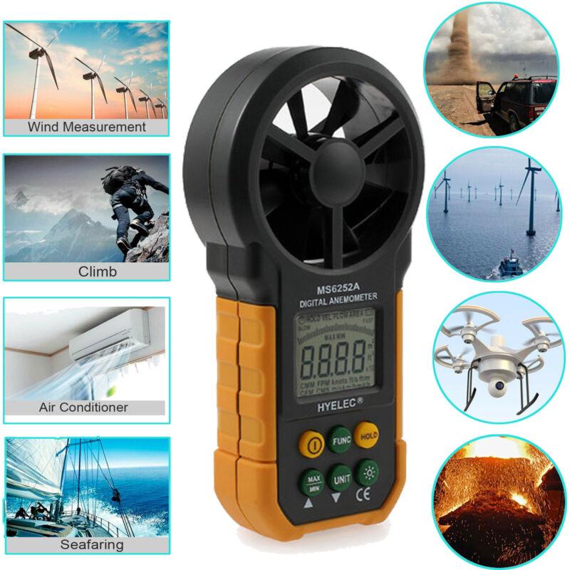 6252A Digital Anemometer Handheld Wind Speed Gauge Meter LCD Tester Measure Tool