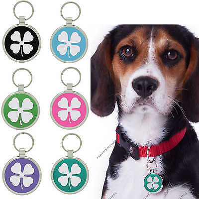 Pet Tag Dog Tags Custom Engraved Identification ID Lucky Fou