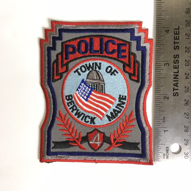 BERWICK MAINE POLICE PATCH TROOP 4 ME