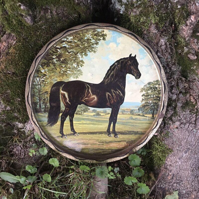 1966 Jeanne Mellin Metal Horse Tray