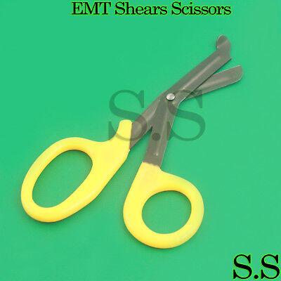 Yellow Fluoride Coated Trauma Paramedic Emt Shears Scissors 7.5
