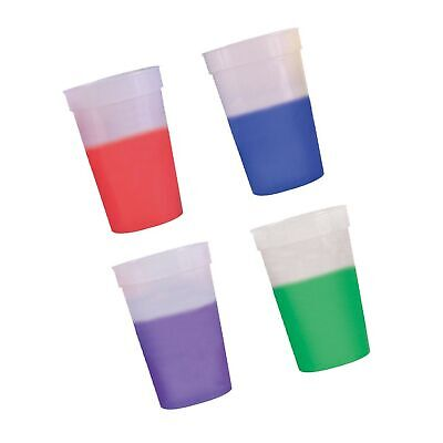 12oz Color Changing Stadium Cup, Set of 12, Frosted Assorted](Frosted Plastic Cups)