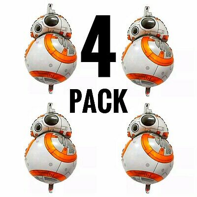 "Star Wars BB8 Balloon 30"" - 4 Foil Birthday Party Decorations Supplies"