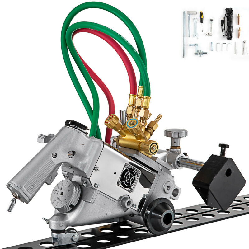 Track Torch Burner Cutter 5-100 mm Portable Flame Gas Cutting Machine 110V