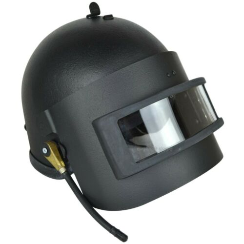 Gearcraft Altyn Russian Helmet Replica with Vizor and Radio Black SOBR FSB