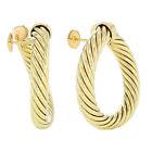 David Yurman 18k Yellow Gold Fine Earrings