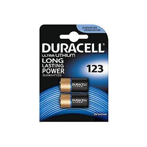 2 Duracell CR123A 3V Ultra Lithium Photo Digital Camera Battery DLCR123 Torch