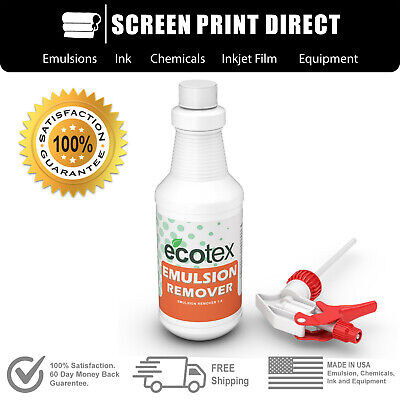 Ecotex Emulsion Remover - Industrial Screen Printing Chemicals - 1 Pint - 16 Oz
