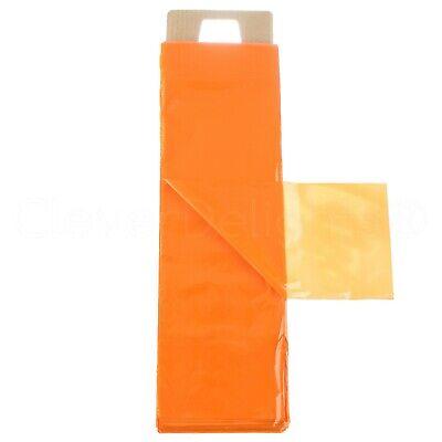 Newspaper Bags - 6 X 19 - 0.8 Mil - Orange - Flat Plastic Bag - 100 500 1000
