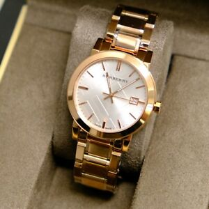 Burberry Women's BU9004 The City Rose Gold-Plated Stainless Steel Watc