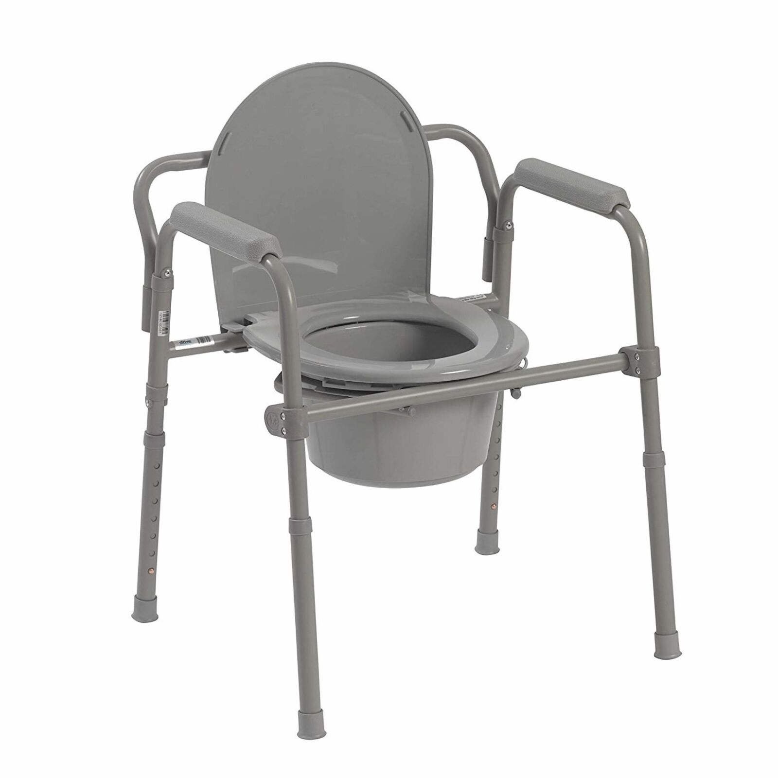 Steel Folding Bedside Commode Chair Portable Toilet For Seni