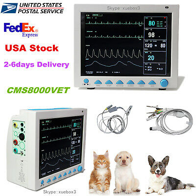 Pet Vet Veterinary Patient Monitor 6 Parameterecgnibpprspo2temprespusa Ce