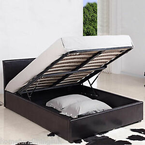Kingsize Leather Bed With Storage Drawers