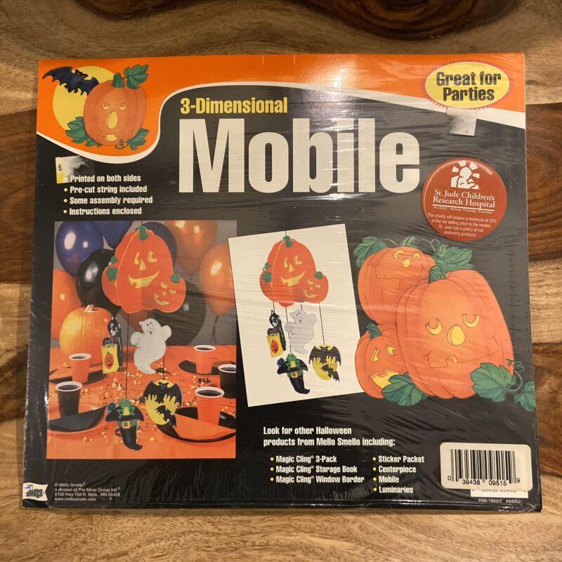 Mello Smello Pumpkin Mobile Halloween Display Vintage Friendly Ghost Decoration