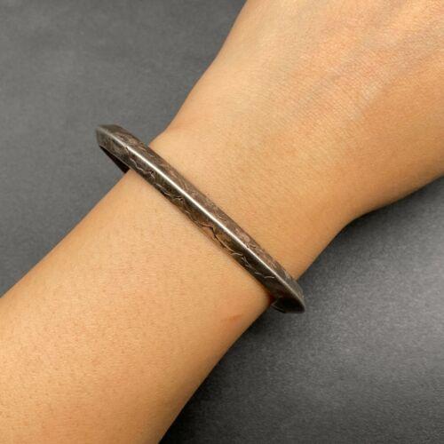 Vintage Southwestern Sterling Silver Hand Stamped Cuff Bracelet