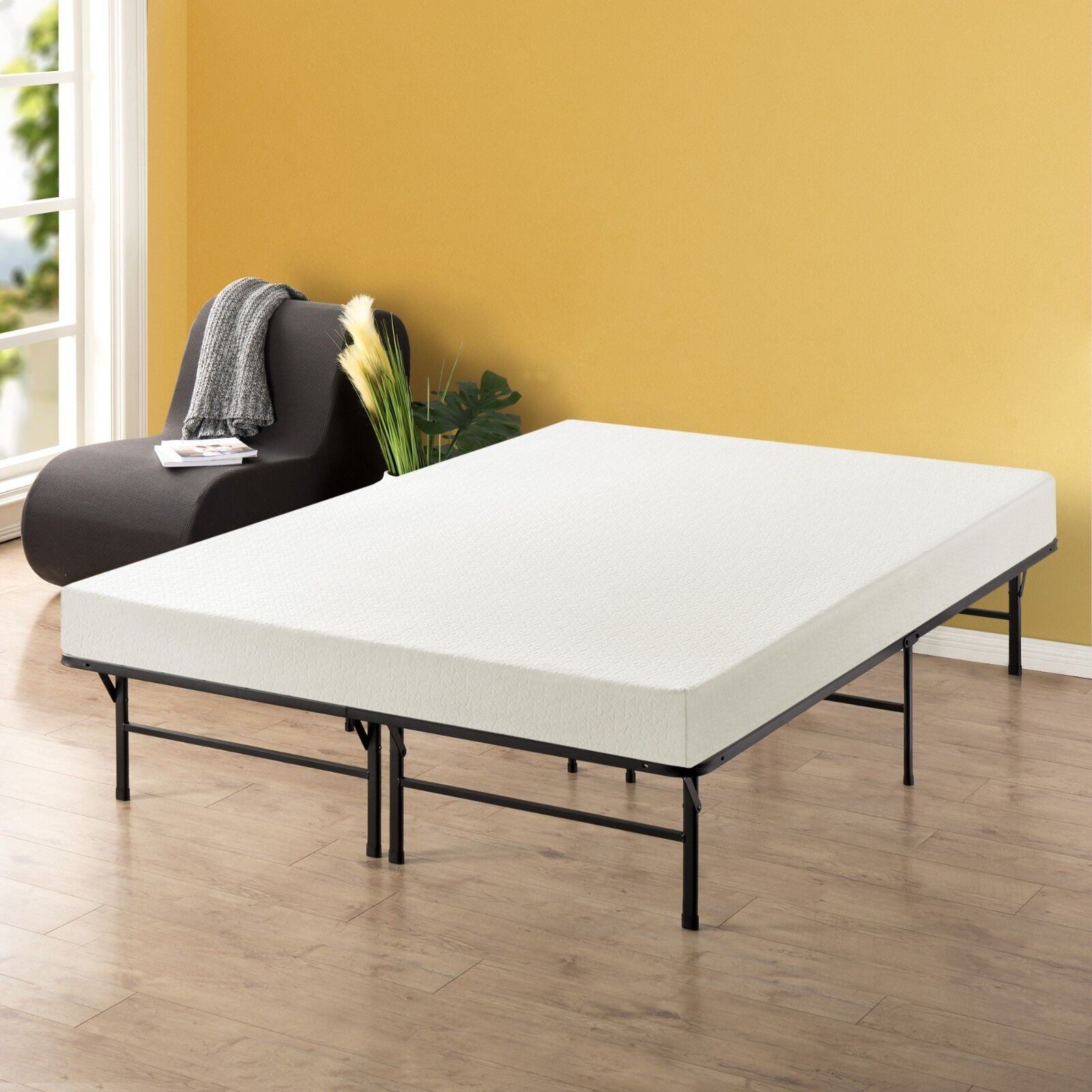EASYSETUP BiFold Sturdy Steel Metal Platform Bed Frame Twin