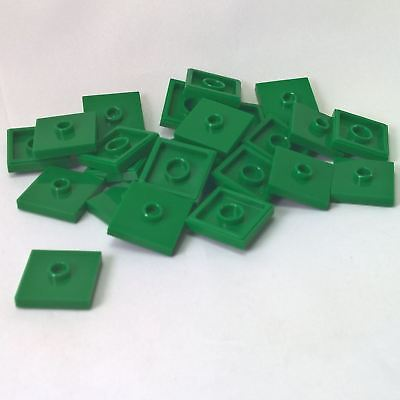 20 NEW LEGO Plate, Modified 2 x 2 and 1 Stud in Center Green