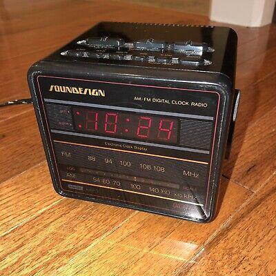 Reconditioned Soundesign Flip Clock Alarm AM//FM Radio Model 3483 Pillow Speaker