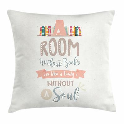 book throw pillow cases cushion covers by