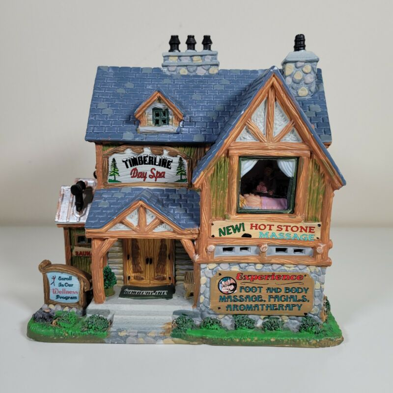 Lemax 2011 Timberline Day Spa Lighted House Works