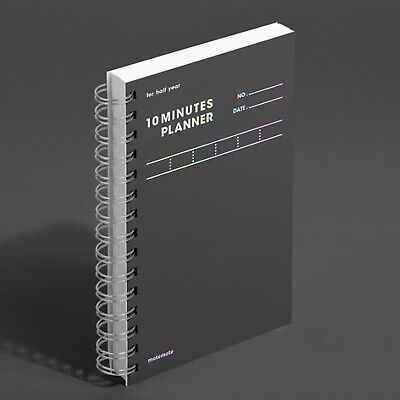MOTEMOTE 10 Minutes Planner HALF YEAR Gray / Monthly Weekly Daily Study Planner