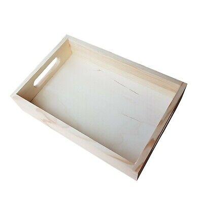 Plain Wood - Wooden Serving Tray 30cmx20cmx 6.3cm Decoupage