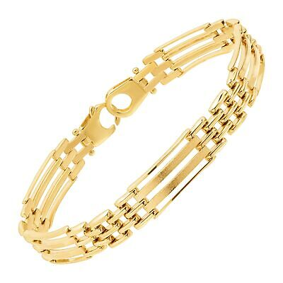 Eternity Gold Men's Panther Link Chain Bracelet in 10K Gold - Mens Panther Link