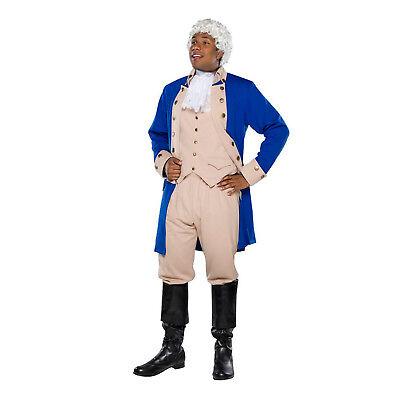 Mens Colonial General Costume Alexander HAMILTON Musical Civil War Halloween](Halloween Costumes Hamilton)