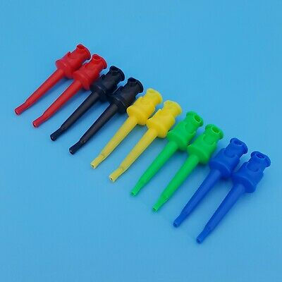10pcs 5 Colors 55mm Nylon Insulated Test Hook Clip Multimeter Accessories Probe