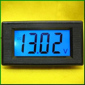 LCD Volt Panel Meter Voltage BLUE Voltmeter Display Solar Battery 12V DC Car Van