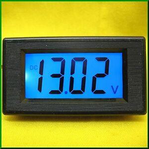 LCD Volt Panel Meter Voltage BLUE Voltmeter Display Solar Battery 12V DC Car Van
