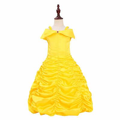 Princess Belle Costumes Princess Dress Up Halloween Costume for Little Girl](Princess Belle Costume For Teens)