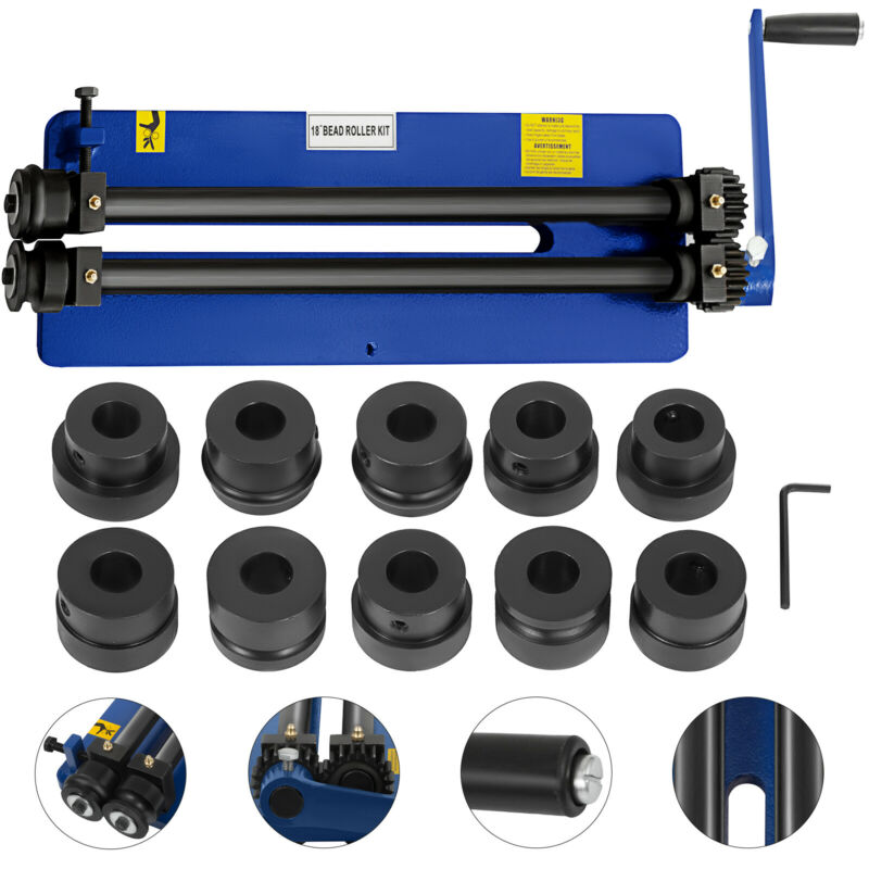 """18"""" Bead Roller Former Swager Rotary Swaging Machine Tough 6 Die Sets Convenient"""