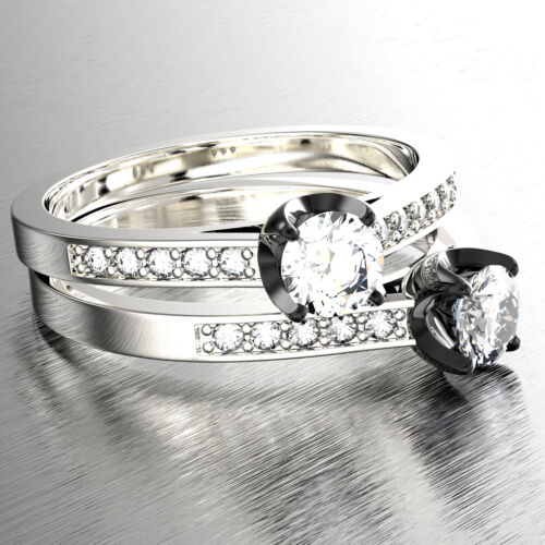 1.80 Carat GIA Certified Round Brilliant Diamond Engagement Ring 18k White Gold