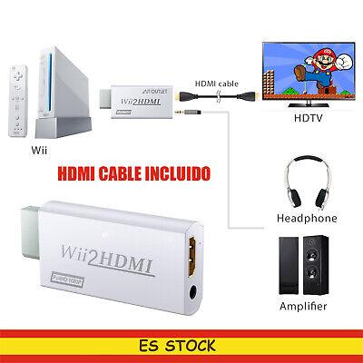 Adaptador Wii a HDMI Conversor Wii2HDMI 720p y 1080p Cable HDMI Para...