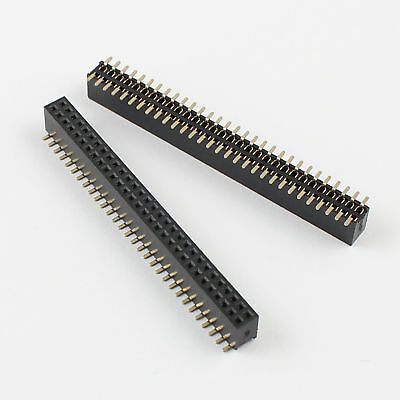 100pcs Pitch 1.27mm Female 2x30 Pin 60 Pindouble Row Smt Pin Header Strip
