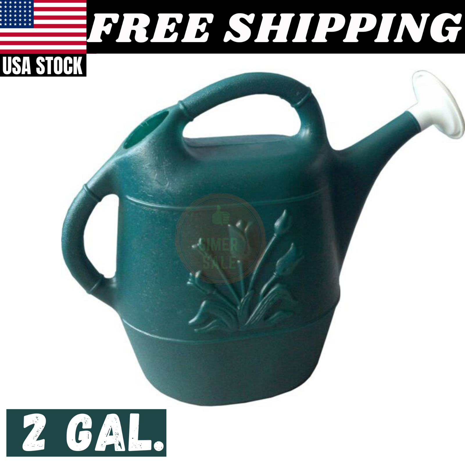 2 Gallon Watering Can UV resistant Garden Plant Watering Sto