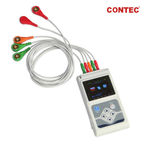 CONTEC 3-Channel 24hour ECG/EKG Holter Monitor Recorder Analyzer System+Software