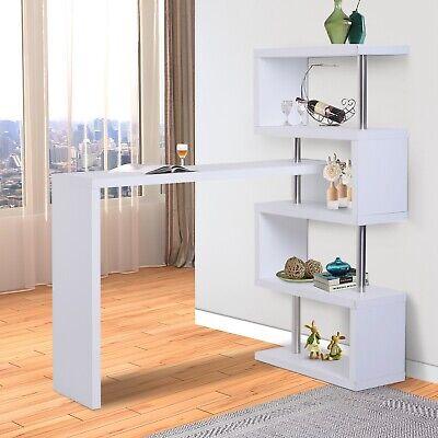 Bartheke Hausbar Raumteiler Regal Schreibtisch Bartisch Tisch Holzoptik