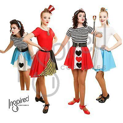 Girls Child QUEEN OF HEARTS / ALICE IN WONDERLAND  Fancy Dress Skirt Costume