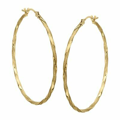 Eternity Gold Twisted Hoop Earrings in 14K Gold