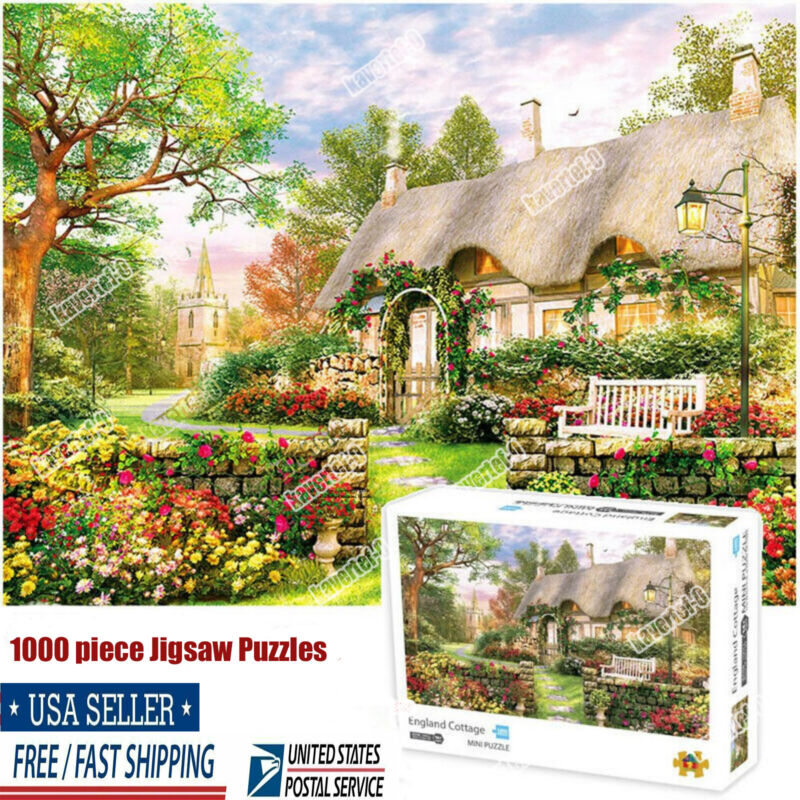 1000 piece England Cottage Jigsaw Puzzles For Adults Learning Education Toys USA