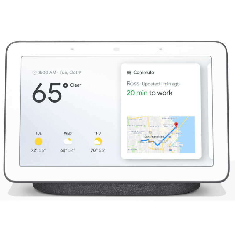 Google Home Hub with Google Assistant (GA00515-US) - Charcoal