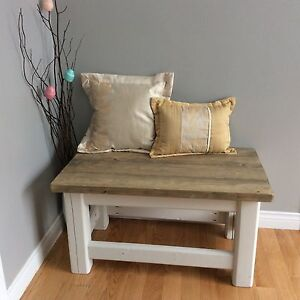 Driftwood colour distressed table or seat
