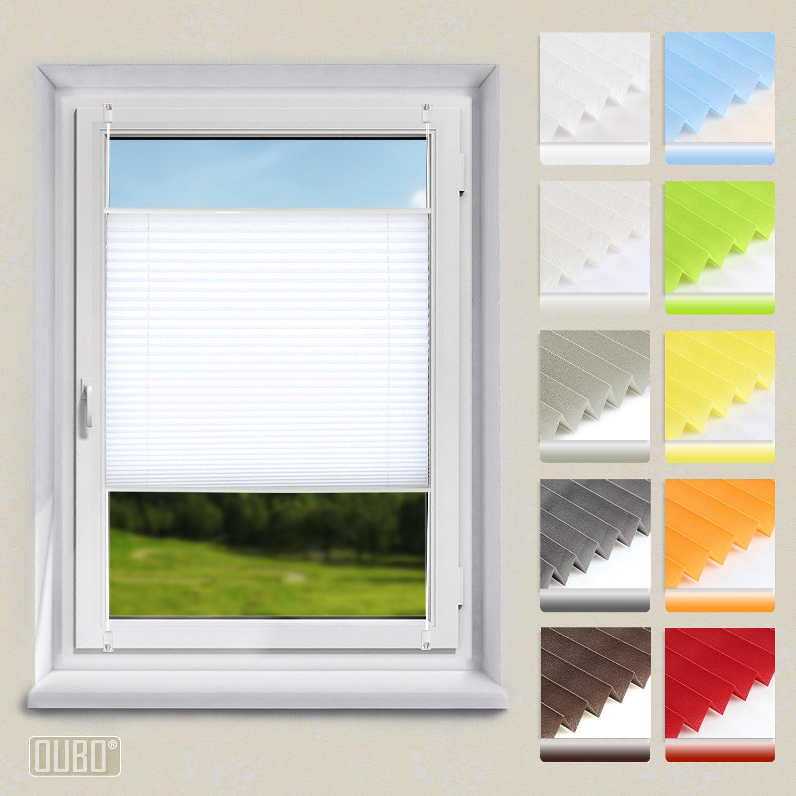 Plissee Klemmfix Faltrollo ohne Bohren Jalousie Fenster Rollos Weiß
